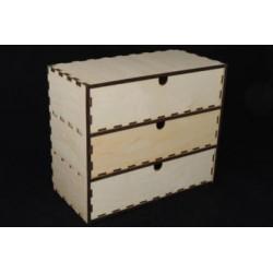 Заготовка для декупажа Комод с 3-мя ящиками, размеры 30*15*25 см