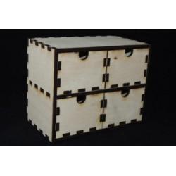 Заготовка для декупажа Комод 4 ящика, размеры 21*12*17 см