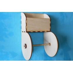 Заготовка для декупажа Держатель для туалетной бумаги 1, размеры 13х13х22 см