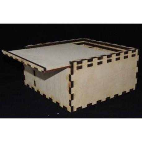 Заготовка для декупажа Ящик с выдвижной крышкой, размеры 11х22х22 см