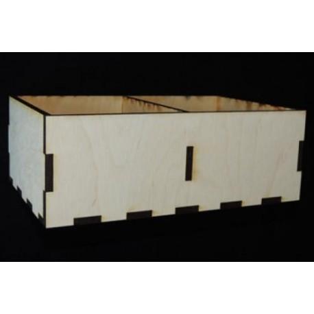 Заготовка для декупажа Коробка на 2 отделения, размеры 9х16х26 см