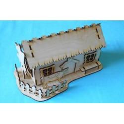 Заготовка для декупажа Чайный домик Подворье, размеры 11х16х29 см