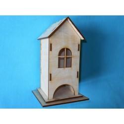 Заготовка для декупажа Чайный домик одинарный с прямой крышей, размеры 9х9х21 см
