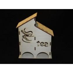 Заготовка для декупажа Чайный домик двойной Tea, размеры 9х18х23 см