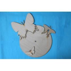 Заготовка для декупажа Часы Бабочки 1, размеры 29х39 см