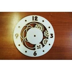 Заготовка для декупажа Часы Шестеренки d 25,30 см