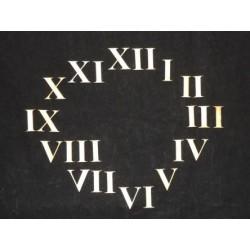 Заготовка для декупажа Цифры для часов римские, высота 3 см