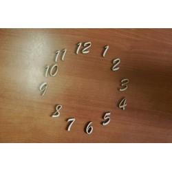 Заготовка для декупажа Цифры для часов арабские, высота 3 см