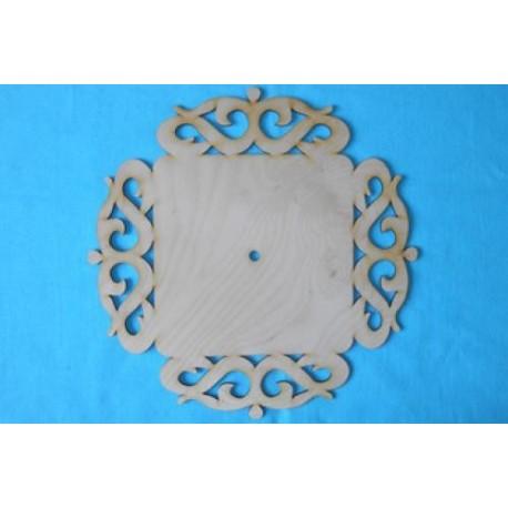 Заготовка для декупажа Часы Вензель квадрат, размеры 30х30 см