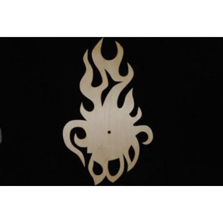 Заготовка для декупажа Часы Пламя, размеры 27х45 см