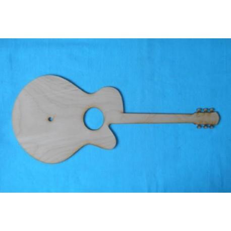 Заготовка для декупажа Часы Гитара 21х50 см