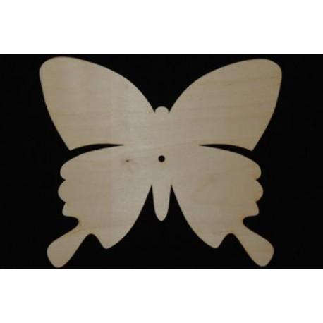 Заготовка для декупажа Часы Бабочка-Махаон, размеры 30х34 см