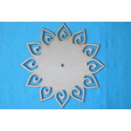 Заготовка для декупажа Часы Солнышко d 30 см
