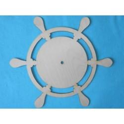 Заготовка для декупажа Часы Штурвал 3, размер 30х34 см