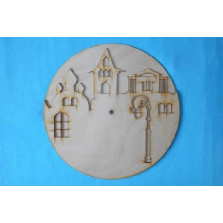 Заготовка для декупажа Часы Старый город, диаметр 25, 30 см
