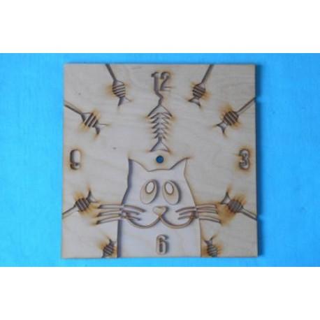 Заготовка для декупажа Часы Кот мечтает 30х30 см