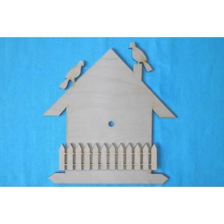 Заготовка для декупажа Часы Птичий домик 25х30 см