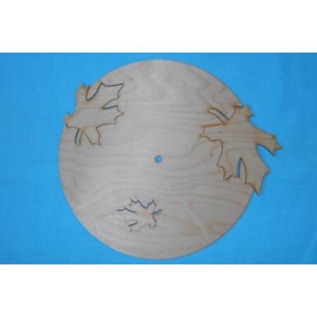 Заготовка для декупажа Часы Кленовые листья 2, размеры 28х31 см