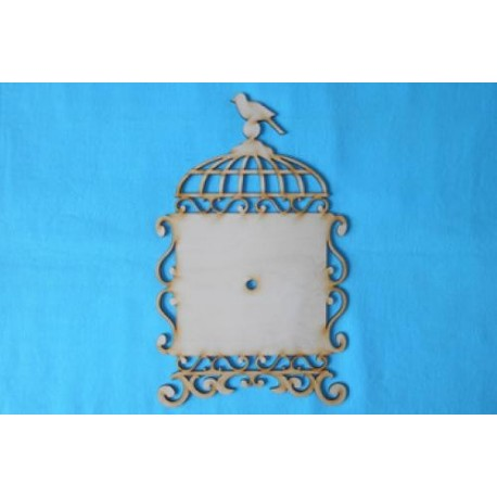 Заготовка для декупажа Часы Птичья клетка, размеры 18х30 см
