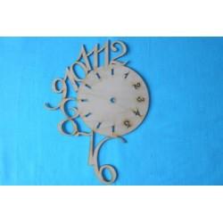 Заготовка для декупажа Часы Выбегающие цифры, размеры 22х30 см