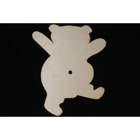 Заготовка для декупажа Часы Медвежонок, размеры 20х25 см