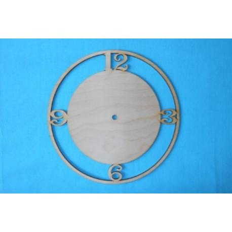 Заготовка для декупажа Часы Круглые с цифрами (3, 6, 9, 12), диаметр 25, 30 см
