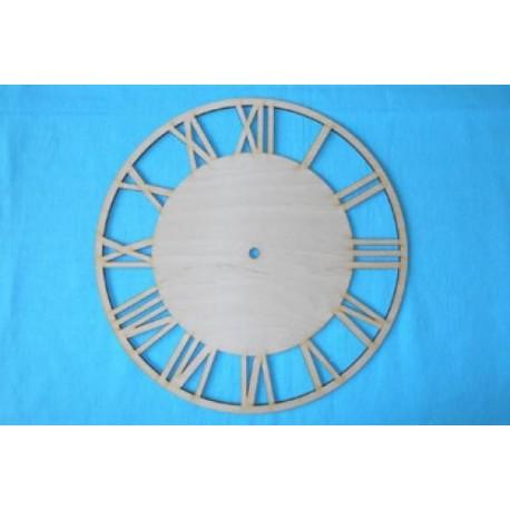Заготовка для декупажа Часы Круглые с римскими цифрами 2, диаметр 25, 30 см