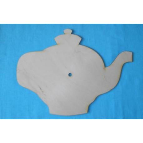 Заготовка для декупажа Часы Чайник 2, размеры 25х28 см