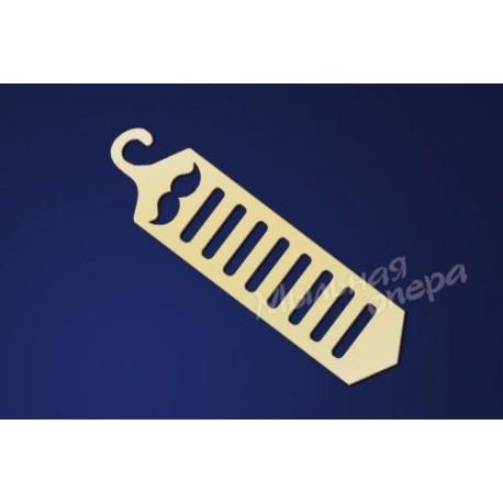 Заготовка для декупажа Держатель для галстуков, размеры 12х47 см
