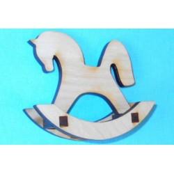 Заготовка для декупажа игрушка Лошадка-качалка 2, размеры 7х8 см