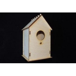 Заготовка для декупажа Скворечник для птиц, размеры 11х13х23 см