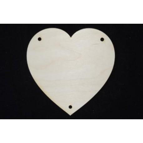 Заготовка для декупажа Панно Сердце, размеры 15х15 см