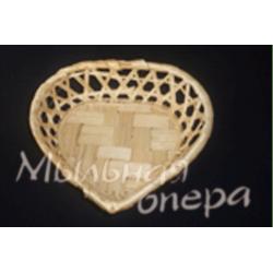 Упаковка Корзинка сердце, 15 см