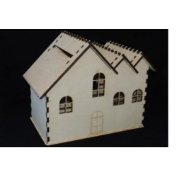 Заготовка для декупажа Ларец-дом, размеры 21х30х35 см