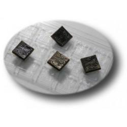 Форма для шоколада Деревянные квадратики