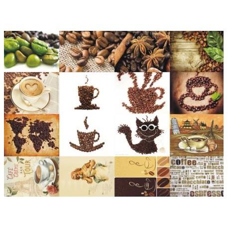 Картинки на водорастворимой бумаге Кофе