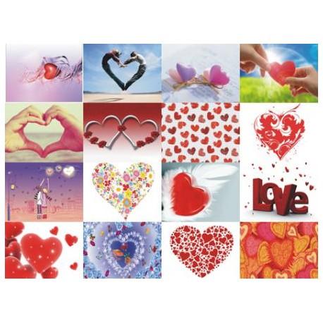 Картинки на водорастворимой бумаге Любовь-Сердца