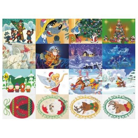 Картинки на водорастворимой бумаге Новый год 3