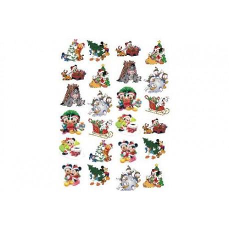 Картинки на водорастворимой бумаге Новый год Дисней
