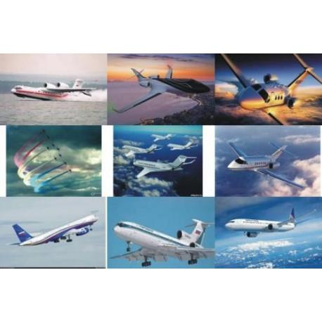 Картинки на водорастворимой бумаге Самолеты