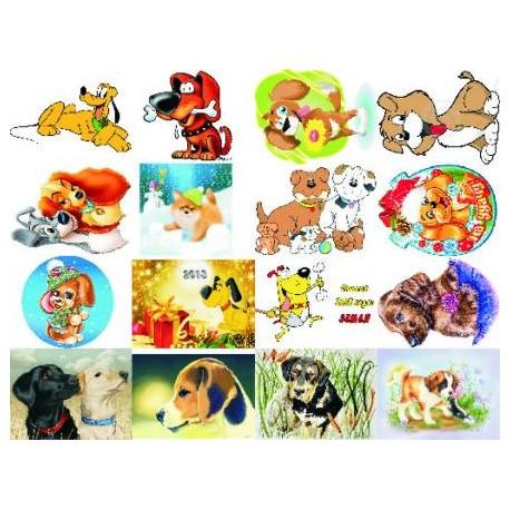 Картинки на водорастворимой бумаге Собаки