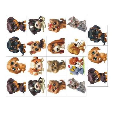 Картинки на водорастворимой бумаге Собаки 5х5