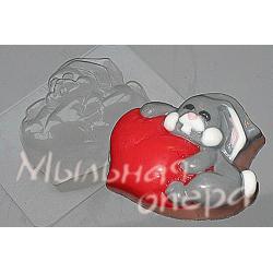 Форма ПВХ Влюбленный заяц