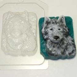 Форма ПВХ Волк портрет