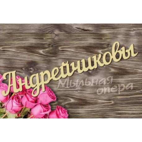 Заготовка для декупажа Надпись Андрейчиковы шрифт7