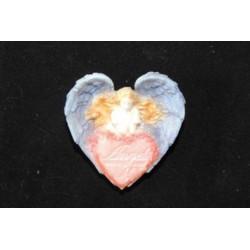 Форма 3D Сердечко с ангелом