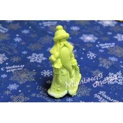 Форма 3D Дед мороз с фонарем