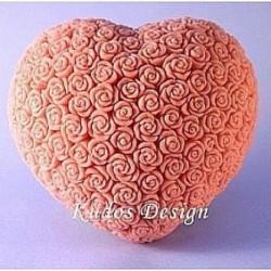 Форма 3D Сердце в розах