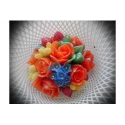 Форма 3D Букет Розы и мускари