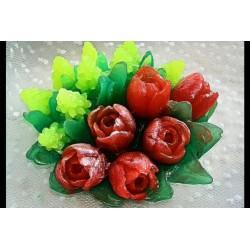 Форма 3D Букет Тюльпаны и мускари